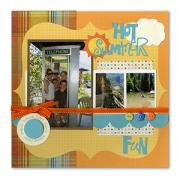 Hot Summer Fun Scrapbook Page