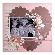 Inspire Scallop Heart Scrapbook Page