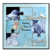 Treasure Puzzle Scrapbook Page
