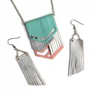 Fringed Necklace & Earrings