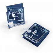 Ice Skater Tri-fold Card