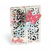 Hello Butterfly Gatefold Card