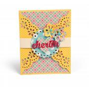 Cherish Flowers Gatefold Card