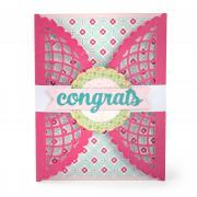 Congrats Lace Gatefold Card