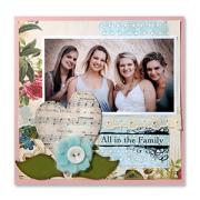 All in the Family Scrapbook Page