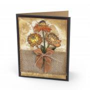 Rustic Flower Garden Card