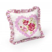 Scalloped Heart Pillow