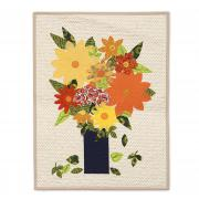 Wildflower & Leaves Wall Hanging