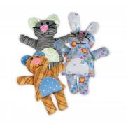 Cat, Bunny & Bear Softies