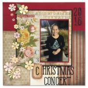 Christmas Concert Scrapbook Page