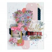 Hello Beautiful World Scrapbook Page