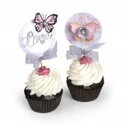 Love & Butterflies Cupcake Toppers