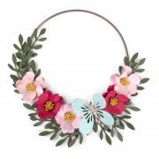 Embossed Flower Wreath