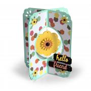 Hello Friend Flower Card #2