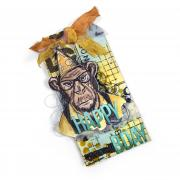 Happy Birthday Hipster Chimp Tag