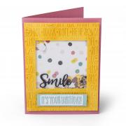 Smile, It's Your Birthday Shaker Card