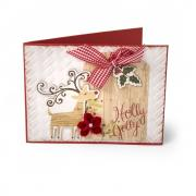 Holly Jolly Embossed Card