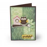 Grateful Owl Embossed Card