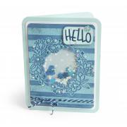 Hello Wildflowers Shaker Card #2