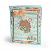 Hello Wildflowers Shaker Card #3