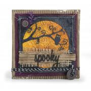 Spooky Moonlit Owl Card
