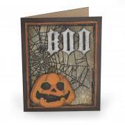 Boo Spiderweb Pumpkin Card