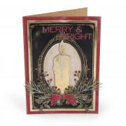 Merry & Bright Candle Card