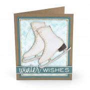 Winter Wishes Ice Skates Card