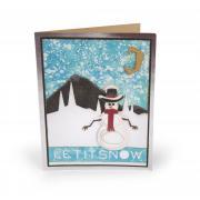 Let it Snow Snowman Card #3