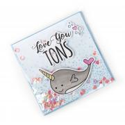 Love You Tons Narwhal Shaker Card