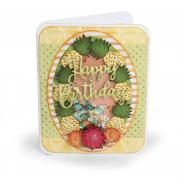 Happy Birthday Pineapples Shaker Card