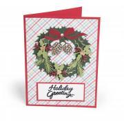 Holiday Greetings Wreath Card