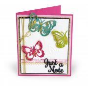 Just a Note Butterflies Card