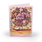 Hello Love Floral Wreath Card #2