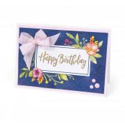 Happy Birthday Floral Frame Card
