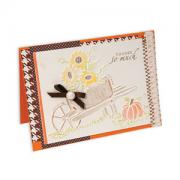 Embossed Sunflowers in Wheelbarrow Card