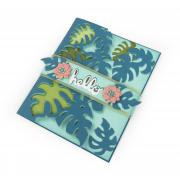 Hello Tropicool Leaves Card #2