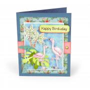 Happy Bird-Day Flamingos Card
