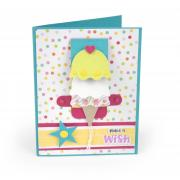 Make a Wish Cupcake Celebration Waterfall Card
