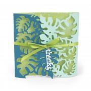 Thanks Tropicool Leaves Gatefold Card