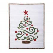 Swirly Christmas Tree Wall Hanging