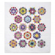 English Paper-Pieced Rose Star Quilt