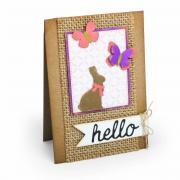Hello Spring Bunny & Butterflies Card