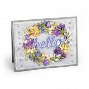 Hello Flower Wreath Card