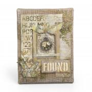 Found Burlap Canvas