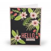 Hello Friend Flowers Card