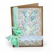 Butterflies Scallop Card