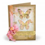 Butterflies Scallop Card #2