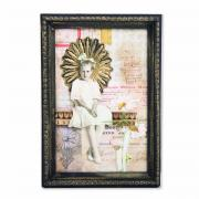 Gold Light Glittered Frame