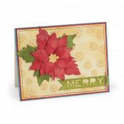 Merry Poinsettia Card